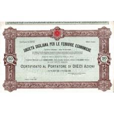 1909 CERTIFICATO AL...