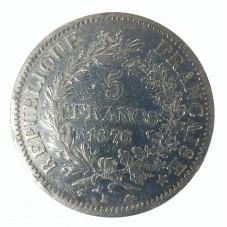 1876 FRANCIA 5 FRANCS - K -...