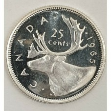 1965 CANADA 25 CENTS...