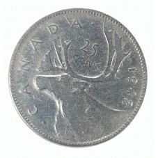 1943 CANADA 25 CENTS...
