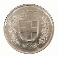 1973 SVIZZERA 5 FRANCHI - B...