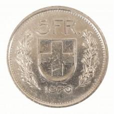 1970 SVIZZERA 5 FRANCHI - B...
