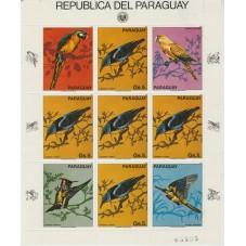 PARAGUAY 1983 FAUNA UCCELLI...