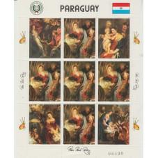PARAGUAY 1982 QUADRI RUBENS...