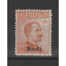 1917 ISOLE EGEO RODI 20 C...