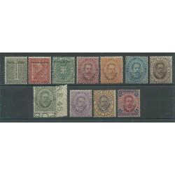 1893  ERITREA SERIE RE UMBERTO I SOPRASTAMPATA 11 V  MLH   MF16366