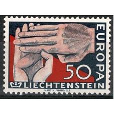 1962 LIECHTENSTEIN EUROPA...