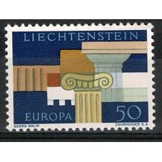 1963 LIECHTENSTEIN EUROPA...
