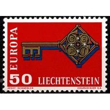 1968 LIECHTENSTEIN EUROPA...