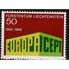 1969 LIECHTENSTEIN EUROPA...