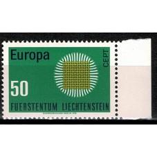 1970 LIECHTENSTEIN EUROPA...