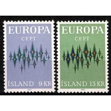 1972 ISLANDA EUROPA CEPT...