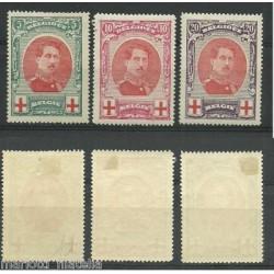 1915 BELGIO SERIE PRO CROCE...