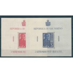 1937 SAN MARINO LINCON 2 FOGLIETTI  MNH MF16855