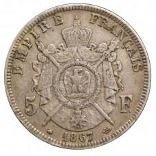 1867 FRANCIA 5 FRANCS - A -...
