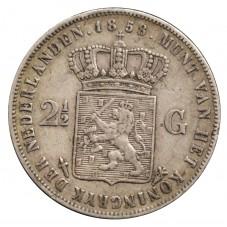 1858 OLANDA 2,5 GULDEN...