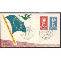 1958 FDC ITALIA EUROPA...