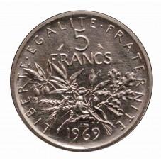 1969 FRANCIA 5 FRANCS - LA...
