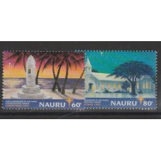 NAURU 1997 NATALE 2 VAL MNH...