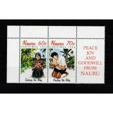 NAURU 1995 NATALE 2 VAL...
