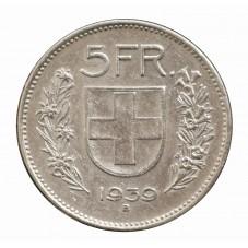 1939 SVIZZERA 5 FRANCHI - B...