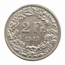 1943 SVIZZERA 2 FRANCHI - B...