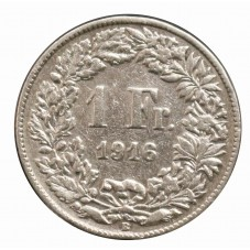 1916 SVIZZERA 1 FRANCO - B...