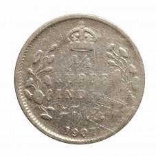 1907 INDIA 1/4 RUPEE -...