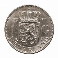 1957 OLANDA - 1 GULDEN -...