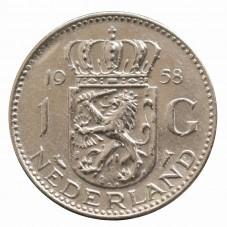 1958 OLANDA - 1 GULDEN -...