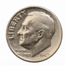 1947 USA ROOSVELT SILVER...