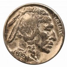 1936 USA FIVE CENT - D -...