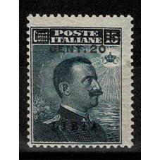 1916 LIBIA 20 C SU 15 C...