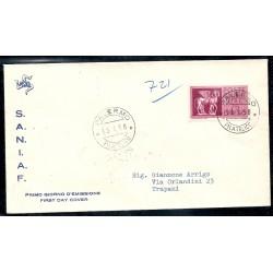 1958 FDC SANIAF ITALIA...