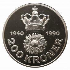 1990 DANIMARCA 200 KRONER -...