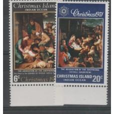 1971 CHRISTMAS ISLAND SERIE...