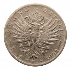 1902 REGNO D'ITALIA MONETA...