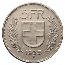 1935 SVIZZERA 5 FRANCHI - B...
