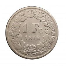 1876 SVIZZERA 1 FRANCO - B...