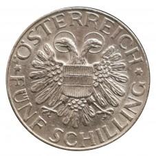 1935 AUSTRIA 5 SCHILLING...